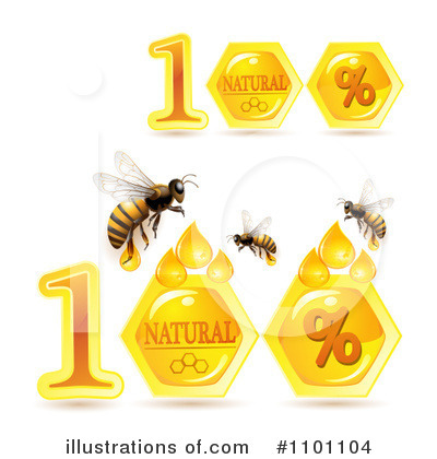 Honey Bee Clipart #1101104 by merlinul