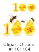 Royalty-Free (RF) Honey Bee Clipart Illustration #1101104