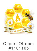 Royalty-Free (RF) Honey Bee Clipart Illustration #1101105