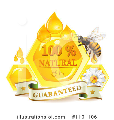 Honey Bee Clipart #1101106 by merlinul