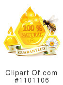 Royalty-Free (RF) Honey Bee Clipart Illustration #1101106
