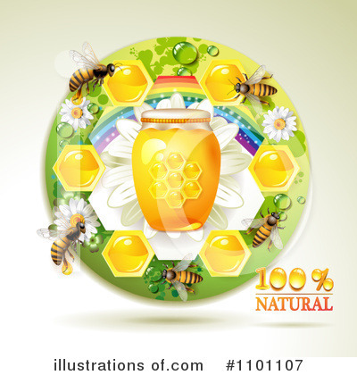 Honey Bee Clipart #1101107 by merlinul