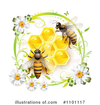 Honey Bee Clipart #1101117 by merlinul