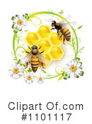Royalty-Free (RF) Honey Bee Clipart Illustration #1101117