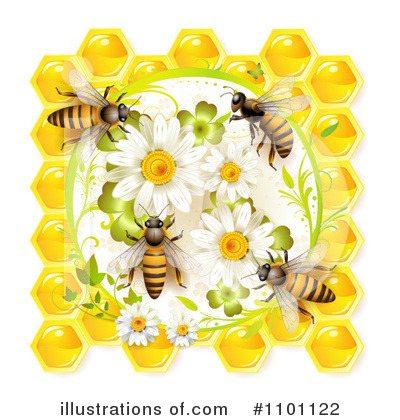 Honey Bee Clipart #1101122 by merlinul
