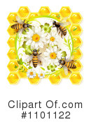 Royalty-Free (RF) Honey Bee Clipart Illustration #1101122