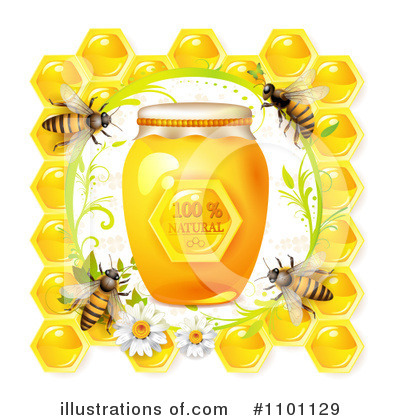 Honey Bee Clipart #1101129 by merlinul