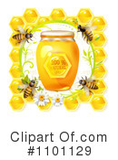 Royalty-Free (RF) Honey Bee Clipart Illustration #1101129