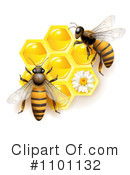 Honey Bee Clipart #1101132 by merlinul