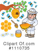 Royalty-Free (RF) Honey Clipart Illustration #1110735