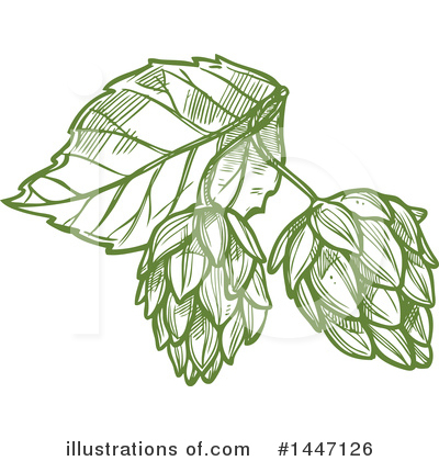 Hops Clipart #1447126 by Vector Tradition SM