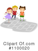 Royalty-Free (RF) Hopscotch Clipart Illustration #1100020