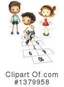 Royalty-Free (RF) Hopscotch Clipart Illustration #1379958