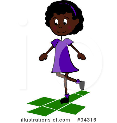 Royalty-Free (RF) Hopscotch Clipart Illustration by Pams Clipart - Stock Sample #94316