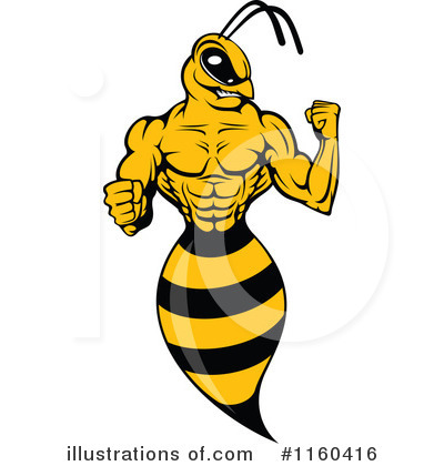 Bee Clipart #1160416 by Vector Tradition SM