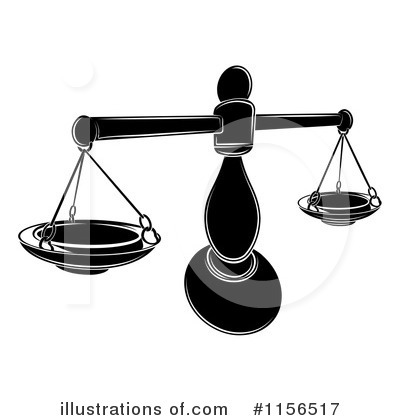 Scales Of Justice Clipart #1156517 by AtStockIllustration