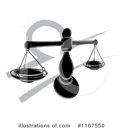 Scales Of Justice Clipart #1167550 by AtStockIllustration