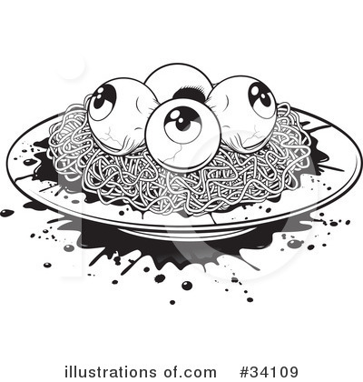 Spaghetti Clipart #34109 by Lawrence Christmas Illustration