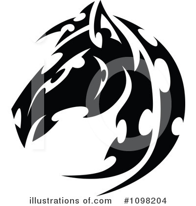 Royalty-Free (RF) Horse Clipart Illustration by Chromaco - Stock Sample #1098204