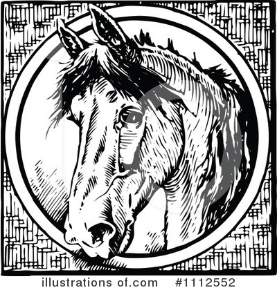 Horse Clipart #1112552 by Prawny Vintage