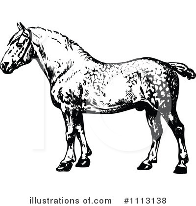 Horse Clipart #1113138 by Prawny Vintage