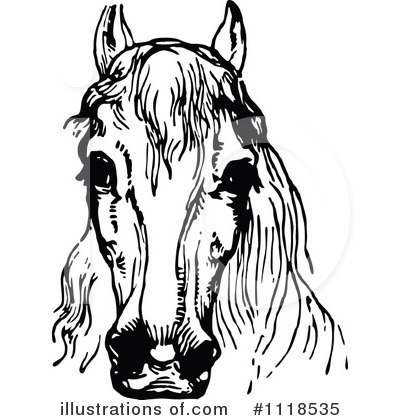 Horse Clipart #1118535 by Prawny Vintage