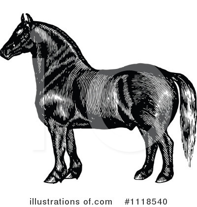 Horse Clipart #1118540 by Prawny Vintage