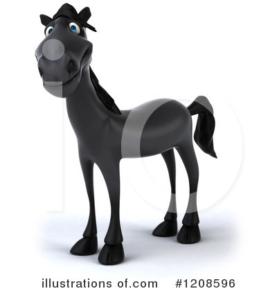 Black Horse Clipart #1208596 by Julos