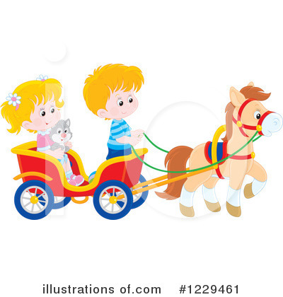 Carriage Clipart #1229461 by Alex Bannykh