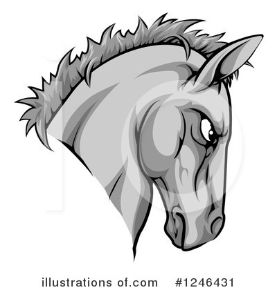 Horse Clipart #1246431 by AtStockIllustration