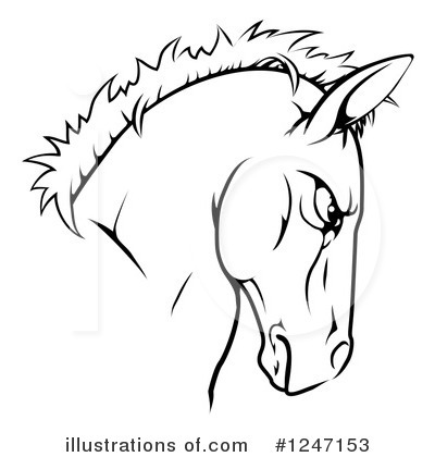 Horse Clipart #1247153 by AtStockIllustration