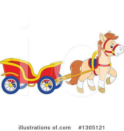 Carriage Clipart #1305121 by Alex Bannykh
