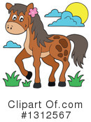 Royalty-Free (RF) Horse Clipart Illustration #1312567
