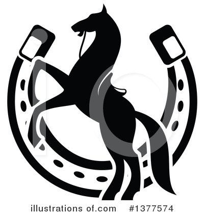 Horseshoes Clipart #1377574 by Vector Tradition SM