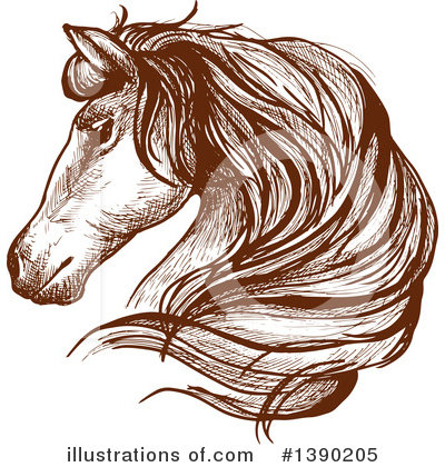 Horse Clipart #1390205 by Vector Tradition SM