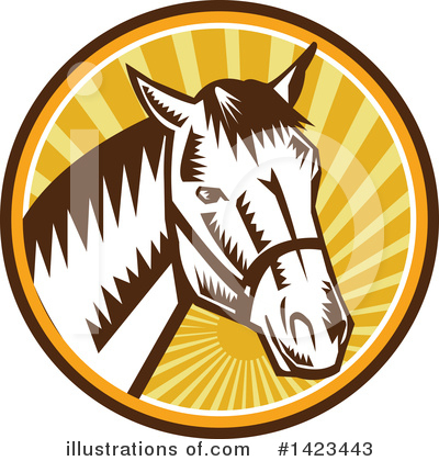 Royalty-Free (RF) Horse Clipart Illustration by patrimonio - Stock Sample #1423443