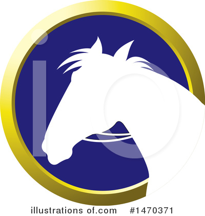 Royalty-Free (RF) Horse Clipart Illustration by Lal Perera - Stock Sample #1470371