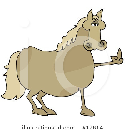 Royalty-Free (RF) Horse Clipart Illustration by djart - Stock Sample #17614