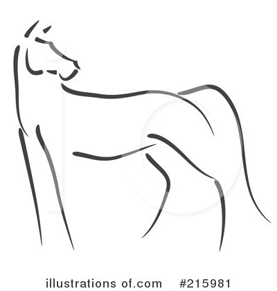 Horse Clipart #215981 - Illustration by stephjs
