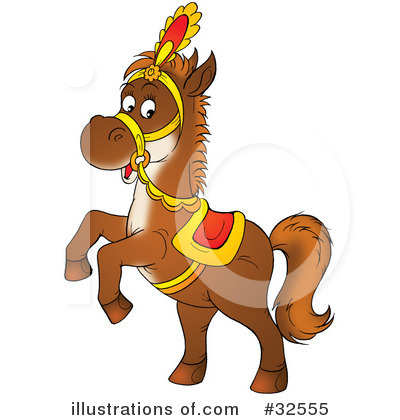Royalty-Free (RF) Horse Clipart Illustration by Alex Bannykh - Stock Sample #32555
