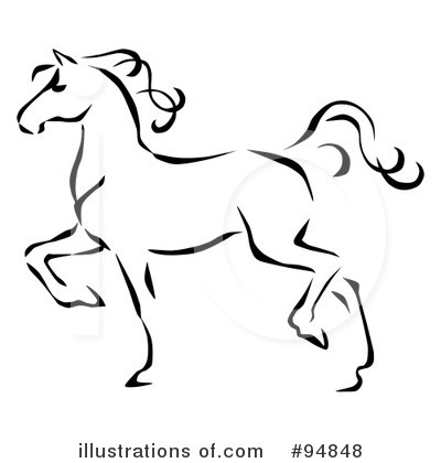 Simple Horse Head Clipart Black And White