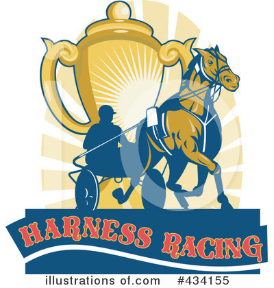 More Clip Art Illustrations of Horse Racing