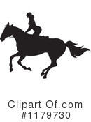 Royalty-Free (RF) Horseback Riding Clipart Illustration #1179730