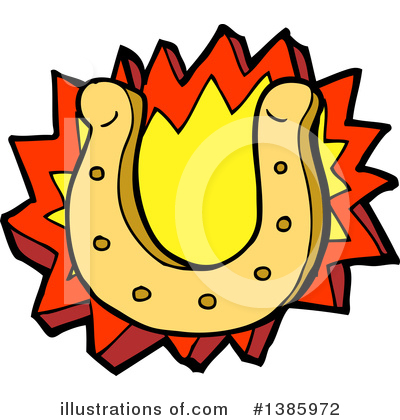 Royalty-Free (RF) Horseshoe Clipart Illustration by lineartestpilot - Stock Sample #1385972
