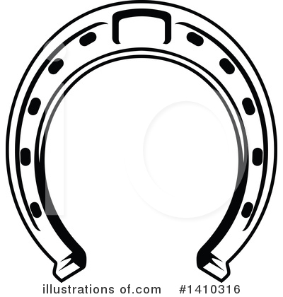 Horseshoe Clipart #1410316 by Vector Tradition SM