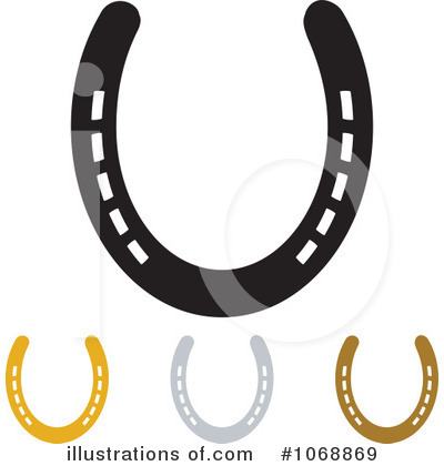 Royalty-Free (RF) Horseshoes Clipart Illustration by michaeltravers - Stock Sample #1068869