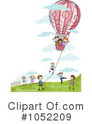 Royalty-Free (RF) hot air balloon Clipart Illustration #1052209