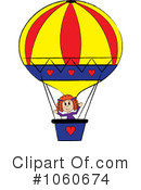 Royalty-Free (RF) hot air balloon Clipart Illustration #1060674
