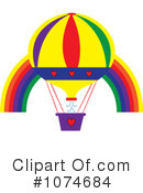 Royalty-Free (RF) hot air balloon Clipart Illustration #1074684