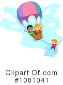 Royalty-Free (RF) Hot Air Balloon Clipart Illustration #1081041